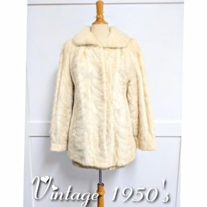 Vintage 1950's Azurine Section Mink Jacket size 12